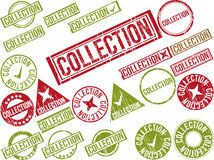 Collection of 22 red grunge rubber stamps with text Stock Photo