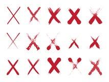 Cross Mark Set royalty free illustration