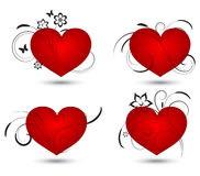 Collection of red hearts Royalty Free Stock Image