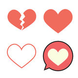 Collection of red hearts. Stock Photos