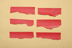 Collection Of Red Paper Tear Stock Images