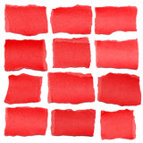 Collection Of Red Paper Tears Royalty Free Stock Images