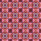 Collection of red and purple patterns tiles royalty free stock image