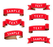Collection of red ribbons Royalty Free Stock Images