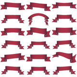 Collection of red  ribbons Royalty Free Stock Photos