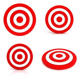 Collection of red targets Royalty Free Stock Photo