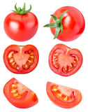 Collection of red tomatoes isolated on white backgroud Stock Photography