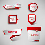 Collection red web pointers design template Royalty Free Stock Image