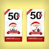 037 Collection of red and white web tag banner promotion sale di Royalty Free Stock Images