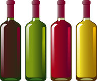 Collection of red and white wine Stock Photos