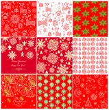 Collection of red winter wallpapers Royalty Free Stock Image