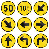 Collection of Regulatory Road Signs Used in Botswana Royalty Free Stock Photos