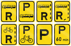 Collection of Regulatory Road Signs Used in Botswana Royalty Free Stock Photography
