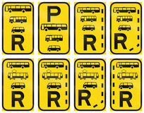 Collection of Regulatory Road Signs Used in Botswana Stock Images
