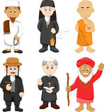 Collection of religious leader cartoon Royalty Free Stock Images