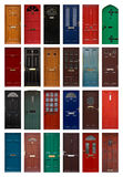 Isolated front doors stock image