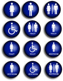 Collection of restroom people pictograms. Collection of restroom/toilet pictograms. Also vector file available for extreme high resolution Royalty Free Stock Images