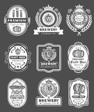 Collection retro beer emblems, badges, stickers vector illustration