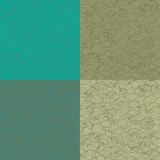 Collection of retro colored marine patterns Royalty Free Stock Images