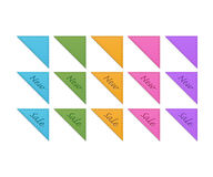 Collection of retro corner ribbons Royalty Free Stock Image