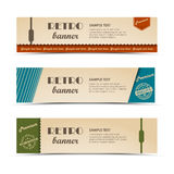 Collection retro horizontal banners template Royalty Free Stock Image