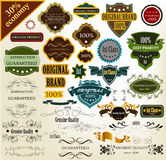 Collection of retro labels best, original Stock Images