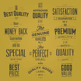Collection of Retro Premium Quality Labels Stock Photo