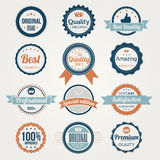 Collection of Retro Premium Quality Labels Royalty Free Stock Photography