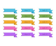 Collection of retro ribbons Royalty Free Stock Photo