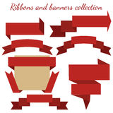 The collection of retro ribbons banners Royalty Free Stock Photos