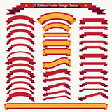 Collection of retro ribbons and labels Stock Image
