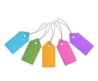 Collection of retro sale tags Royalty Free Stock Photos