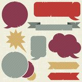 Collection of retro speech bubbles and dialog Royalty Free Stock Photo