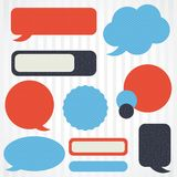 Collection of retro speech bubbles and dialog Stock Photos