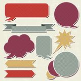 Collection of retro speech bubbles and dialog Royalty Free Stock Photography
