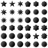 Collection retro stars shapes. Red sparkles. Vintage postal stamps and postmarks Stock Photo