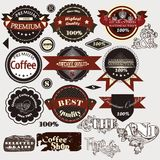 Collection of retro stickers premium and high quality Royalty Free Stock Photos