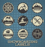 Snowboarding Labels and Icons Stock Photo