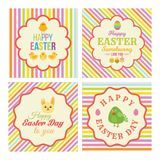 Collection of Retro styles Easter Labels in different stripes and Illustrations. Collection of Retro styled Easter labels with stripes for a perfect gift baskets Royalty Free Stock Images