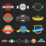 Collection of Retro Vintage Badges , flat design styled labels Royalty Free Stock Images
