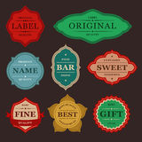 Collection of retro vintage colorful design labels Stock Photo
