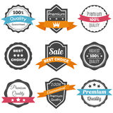 Collection of retro vintage labels. Best choice, premium quality Stock Photo