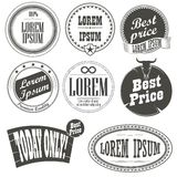 Collection of retro vintage labels Royalty Free Stock Photo