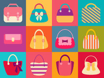 Collection of Retro Woman Bags Stock Photography