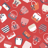 Collection of Retro Woman Bags Seamless Background Royalty Free Stock Image