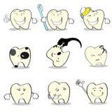 Collection réglée de soins de santé dentaires de dents Photographie stock