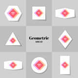 Collection of Rhombus and square shape cards Stock Photo