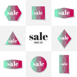 Collection Rhombus and square shape cards Stock Photos