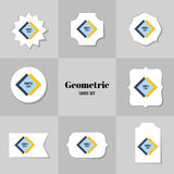 Collection of Rhombus and square shape cards Stock Photography