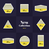 Collection Rhombus and square shape cards Royalty Free Stock Photo